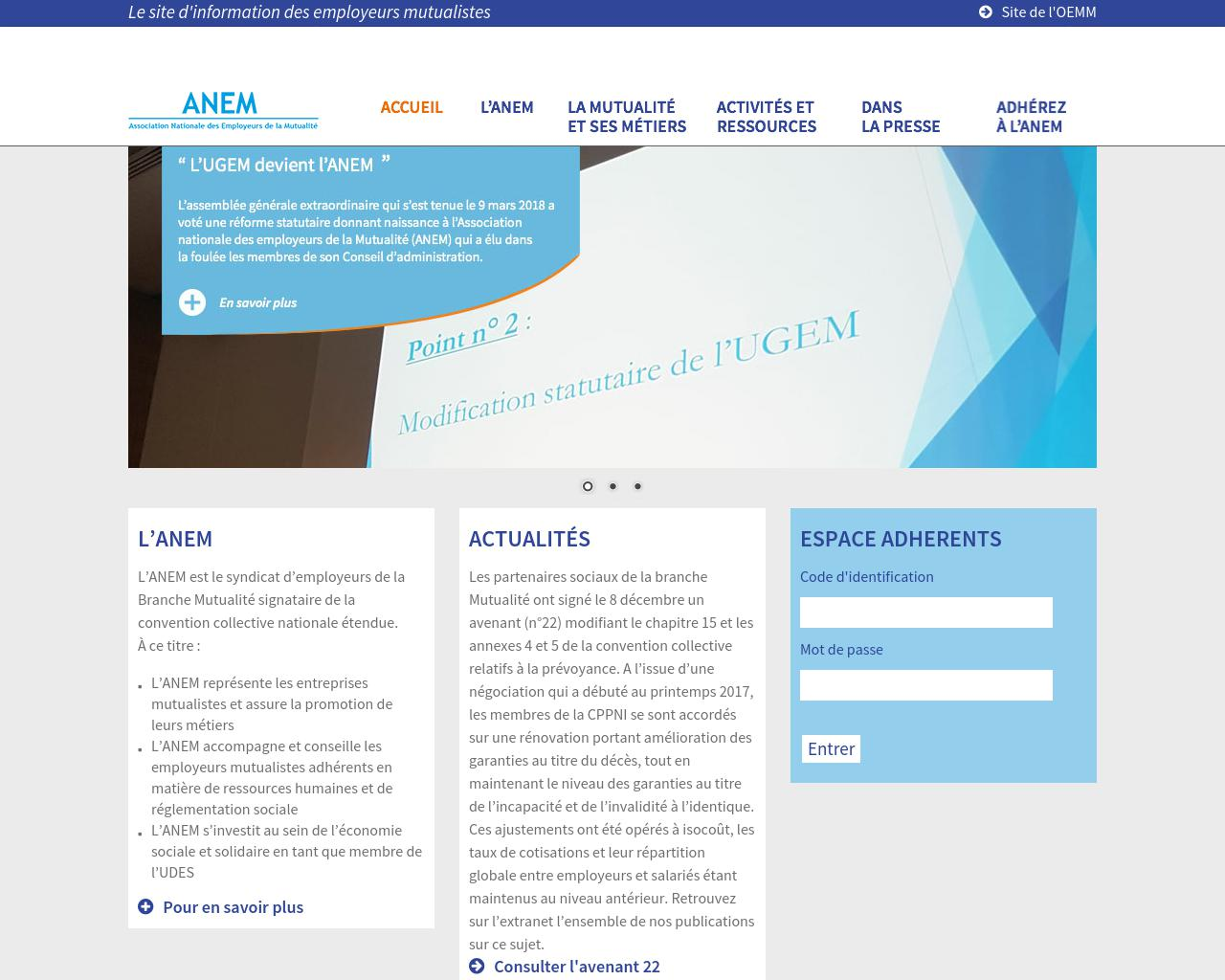 Association Nationale des Employeurs de la Mutualité (ANEM)